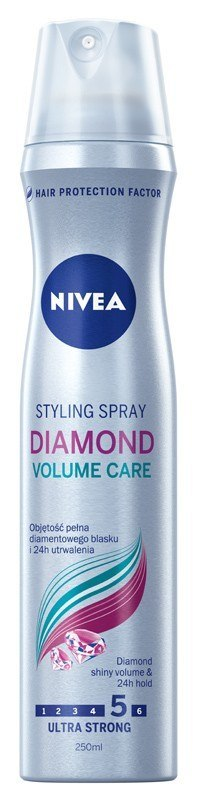 Nivea Lakier do włosów Diamond Volume Care ultra mocny 250ml