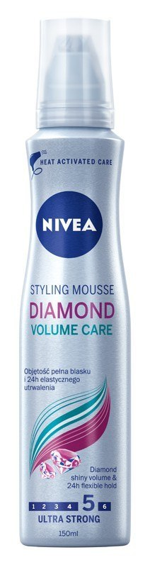 Nivea Pianka do włosów Diamond Volume Care ultra mocna 150ml