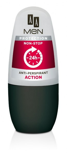 AA Anti-Perspirant Men Protection Non-Stop 24h Dezodorant roll-on Action 50ml