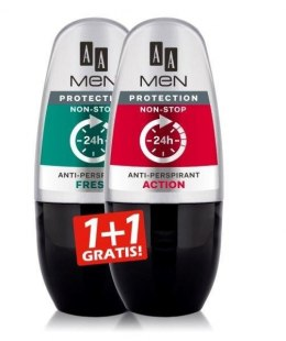 AA Anti-Perspirant Men Protection DUO (roll-on Fresh+roll-on Action) 50ml x 2