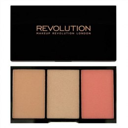 Makeup Revolution Iconic Blush Bronze & Brighten Zestaw do konturowania Rave 11g