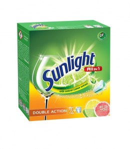 Sunlight Tabletki do zmywarek Citrus Fresh 1 op.-52szt