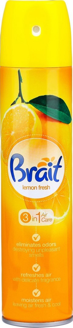 Brait Air Care 3in1 Odświeżacz klasyczny Lemon Fresh 340ml