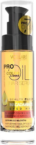 Vollare Pro Oils Color & Shine Serum do włosów farbowanych Macadamia Oil 30ml