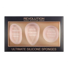 Makeup Revolution Applicators Gąbki silikonowe-zestaw Ultimate Silicone Sponges Set 1op.-3szt