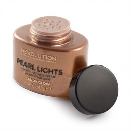 Makeup Revolution Pearl Lights Loose Highlighter Puder sypki rozświetlający Candy Glow 25g