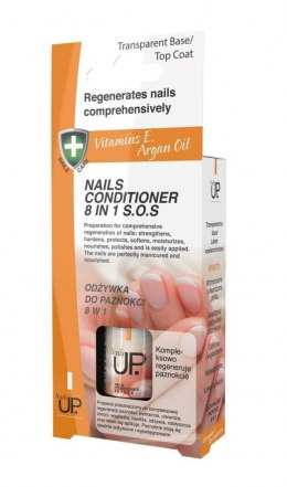 Nails Up.Vitamin E Argan Oil Odżywka do paznokci 8w1 S.O.S 7ml