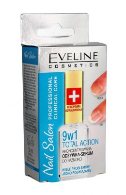 Eveline Nail Salon Odżywka -serum do paznokci 9w1 Total Action 12ml
