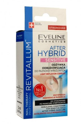 Eveline Nail Therapy Revitallum Odżywka do paznokci odbudowująca After Hybrid Sensitive 12ml