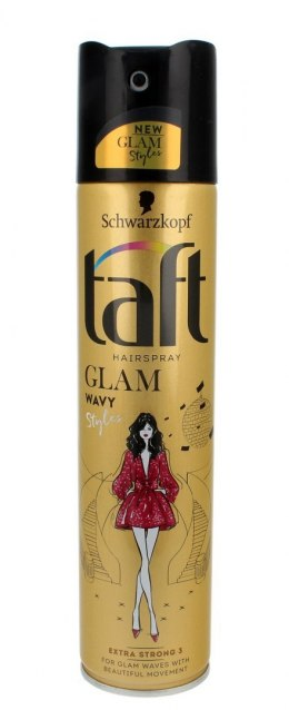 Taft Glam Styles Wavy Lakier do włosów extra strong 250ml