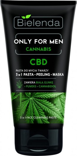 Bielenda Only for Men Cannabis CBD Pasta do mycia twarzy 3w1 150g