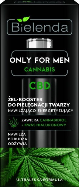 Bielenda Only for Men Cannabis CBD Żel-Booster do pielęgnacji twarzy 30ml