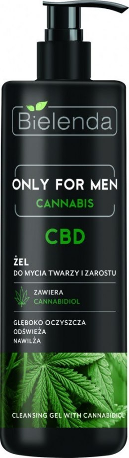 Bielenda Only for Men Cannabis CBD Żel do mycia twarzy i zarostu 190g