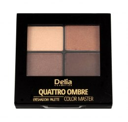 Delia Cosmetics Color Master Cienie do powiek Quattro Ombre nr 401 Chocolate Pleasure 1szt