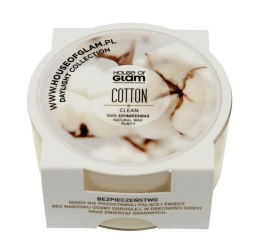 House Of Glam Świeca zapachowa mini Cotton Clean 45g