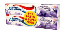 Aquafresh Intense Clean Pasta do zębów Active White 1+1 125ml x2